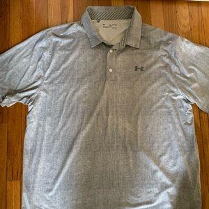 Under Armour Polo Shirt; Gray; Size XXL